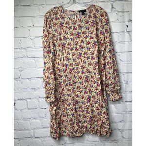 New Look Long Sleeve Floral Dress